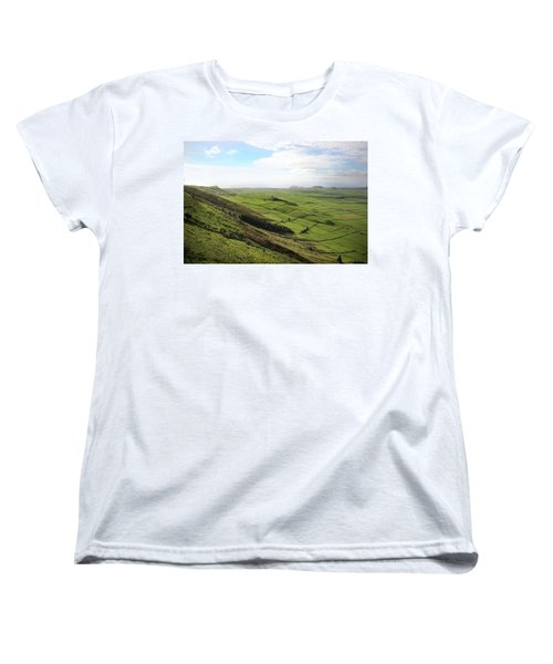 Over The Rim On Terceira Island, The Azores Women's T-Shirt (Standard Cut) by Kelly Hazel