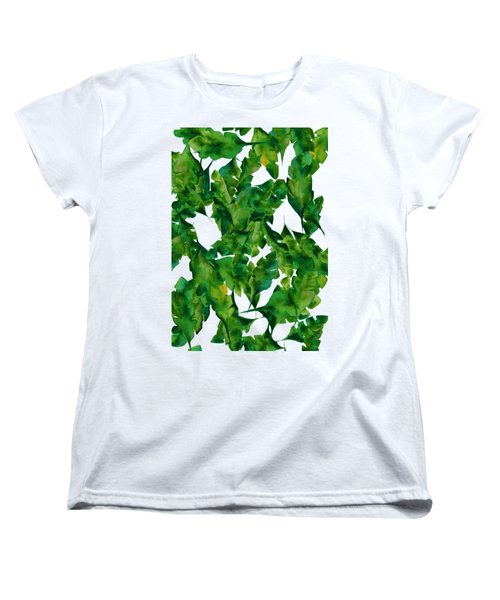 Overlapping Leaves Women's T-Shirt (Standard Cut) by Cortney Herron