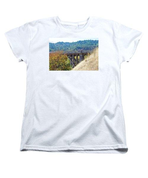 Overpass Underpinnings Women's T-Shirt (Standard Cut) by Adria Trail