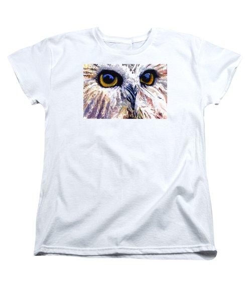 Owl Women's T-Shirt (Standard Cut) by John D Benson