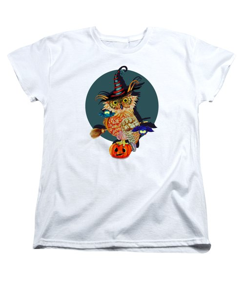 Owl Scary Women's T-Shirt (Standard Cut) by Isabel Salvador