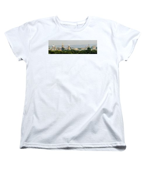 Oxford Spires Panoramic Women's T-Shirt (Standard Cut) by Ken Brannen