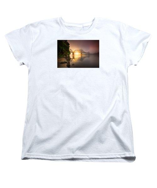 P And Le Ohio River Railroad Bridge Women's T-Shirt (Standard Cut) by Emmanuel Panagiotakis