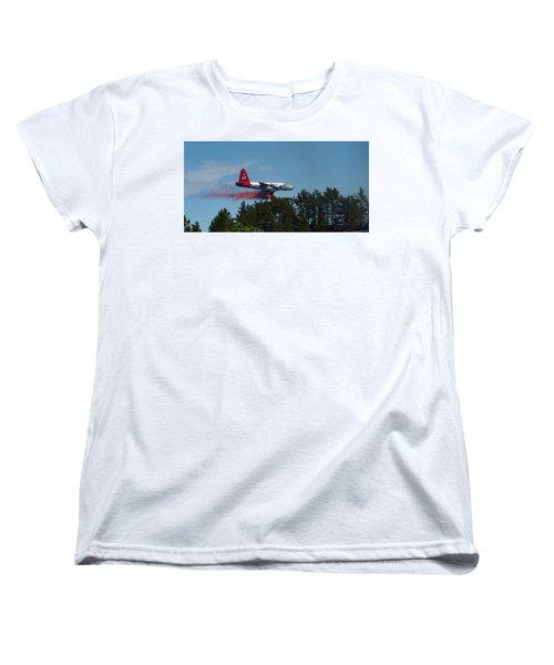 P2v Red Canyon Fire Women's T-Shirt (Standard Cut) by Bill Gabbert