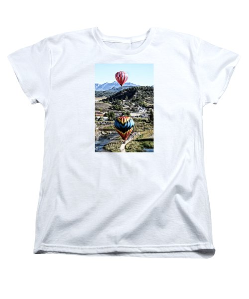 Women's T-Shirt (Standard Cut) featuring the photograph Pagosa Springs Colorfest 2015 by Kevin Munro