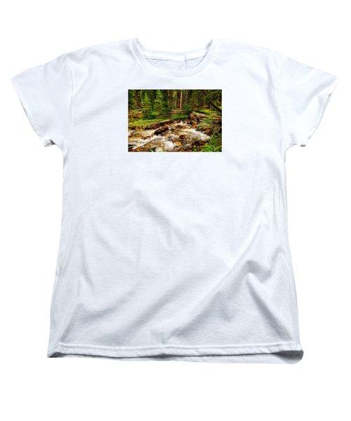 Pahsimeroi Cascades Women's T-Shirt (Standard Cut) by Greg Norrell