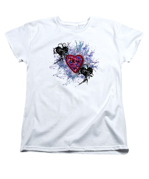 Painted Heart 3 Women's T-Shirt (Standard Cut) by Christine Perry