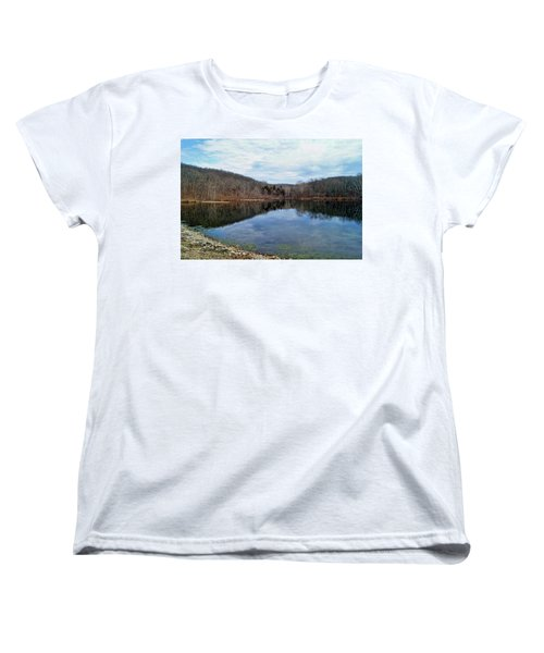 Women's T-Shirt (Standard Cut) featuring the photograph Painted Rock Conservation Area by Cricket Hackmann