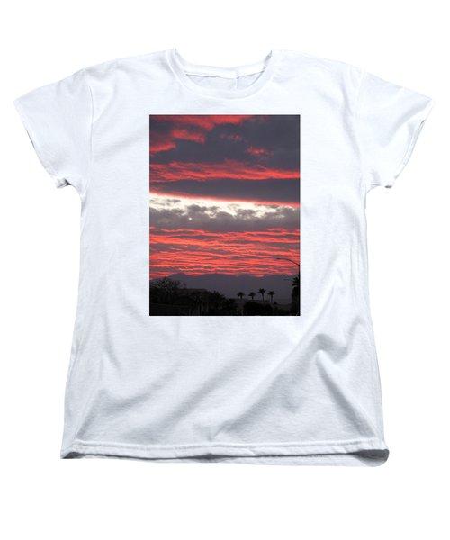 Women's T-Shirt (Standard Cut) featuring the photograph Palm Desert Sunset by Phyllis Kaltenbach