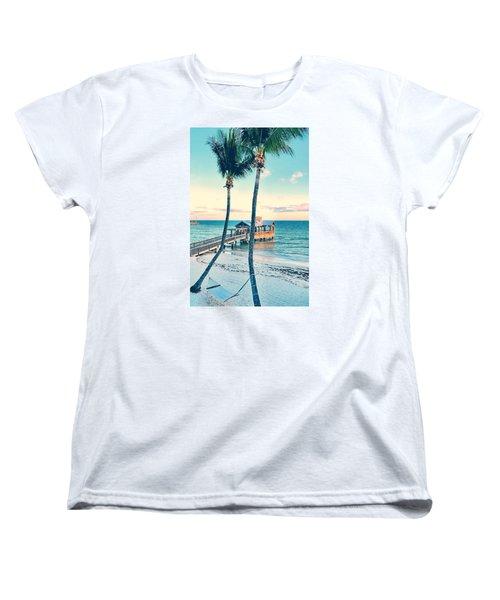 Palm View Women's T-Shirt (Standard Cut) by JAMART Photography