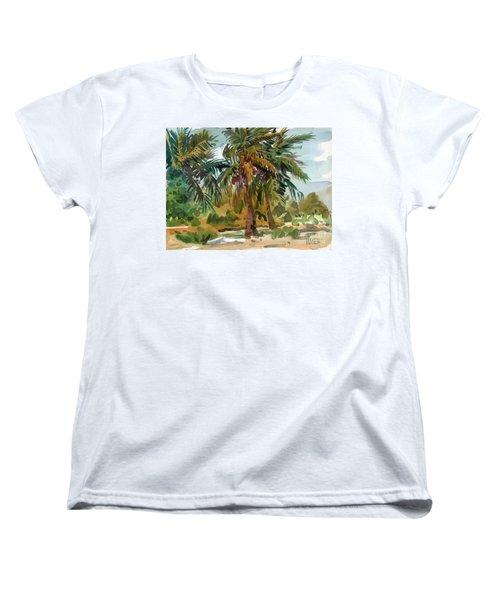Palms In Key West Women's T-Shirt (Standard Cut) by Donald Maier