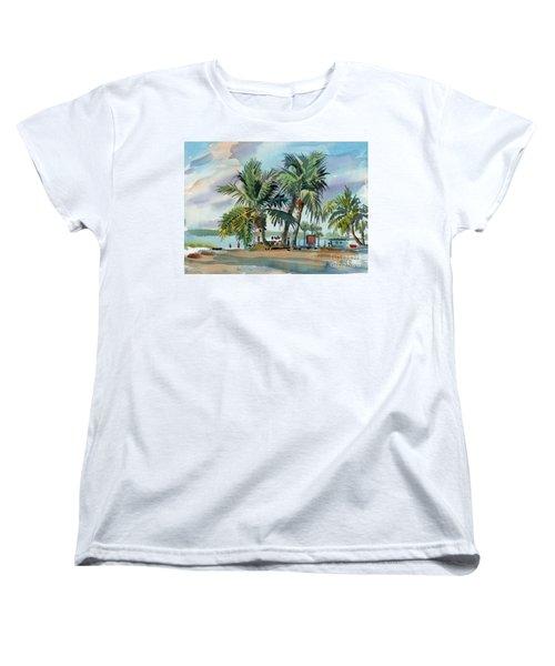 Palms On Sanibel Women's T-Shirt (Standard Cut) by Donald Maier