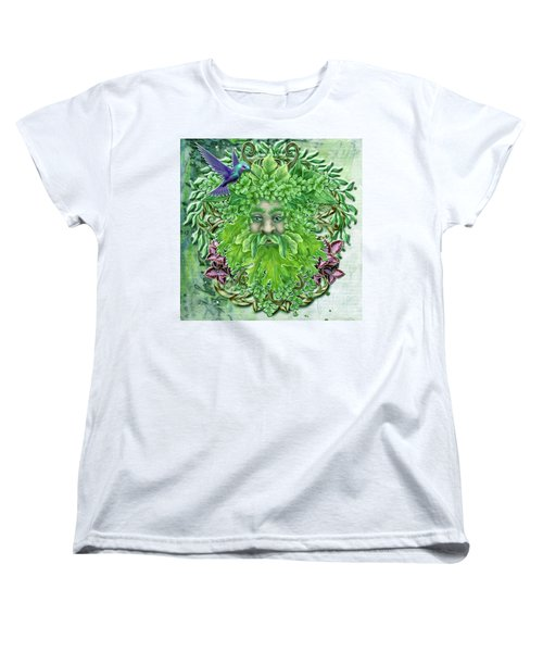 Women's T-Shirt (Standard Cut) featuring the digital art Pan The Protector by Angela Hobbs