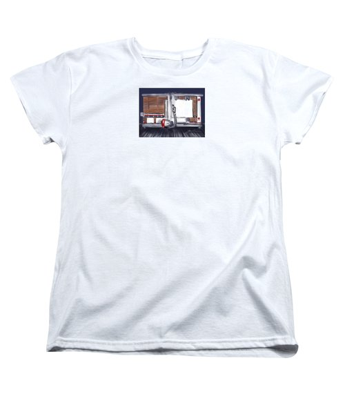 Women's T-Shirt (Standard Cut) featuring the painting Panel Saw by Jean Pacheco Ravinski