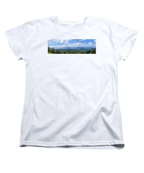 Panorama Of The Foothills Of The Pyrenees In Biert Women's T-Shirt (Standard Cut) by Semmick Photo