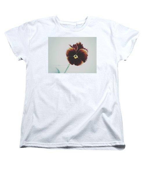 Women's T-Shirt (Standard Cut) featuring the photograph Pansy Face by Karen Stahlros