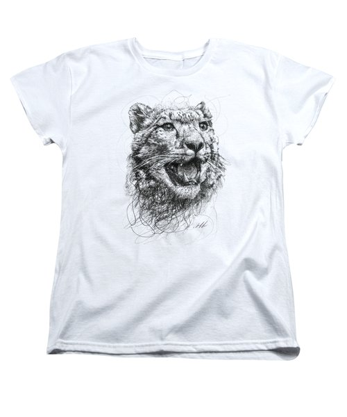 Leopard Women's T-Shirt (Standard Cut) by Michael Volpicelli