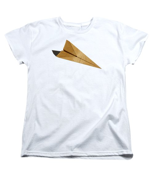 Paper Airplanes Of Wood 15 Women's T-Shirt (Standard Cut) by YoPedro