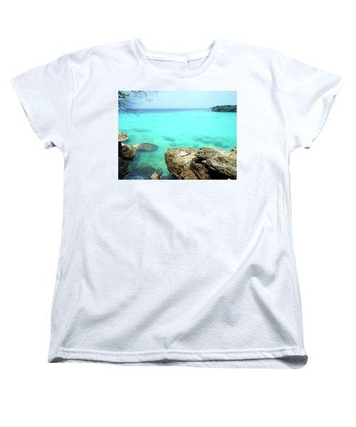 Women's T-Shirt (Standard Cut) featuring the photograph Paradise Island, Curacao by Kurt Van Wagner