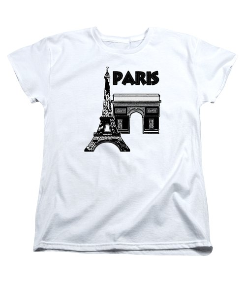 Paris Graphique Women's T-Shirt (Standard Cut) by Pharris Art
