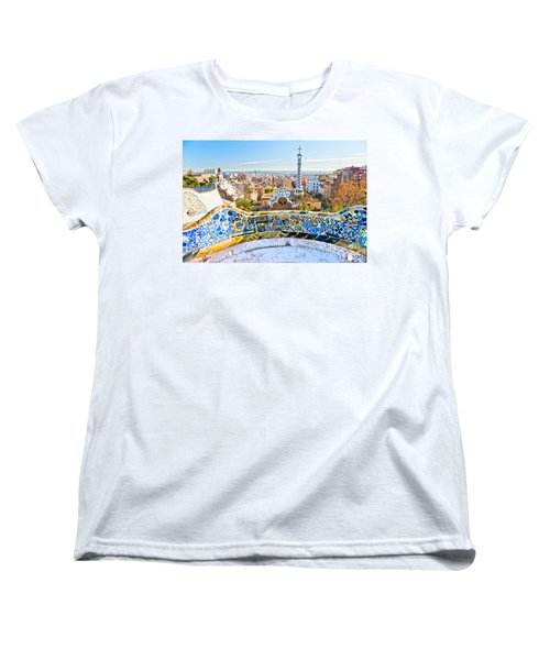 Women's T-Shirt (Standard Cut) featuring the photograph Park Guell Barcelona by Luciano Mortula