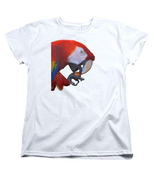 Parrot Having A Snack Women's T-Shirt (Standard Cut) by Pamela Walton
