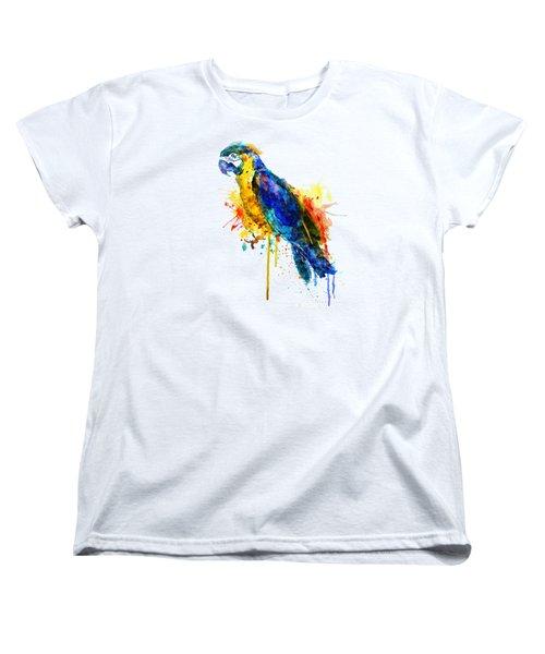 Parrot Watercolor  Women's T-Shirt (Standard Cut) by Marian Voicu