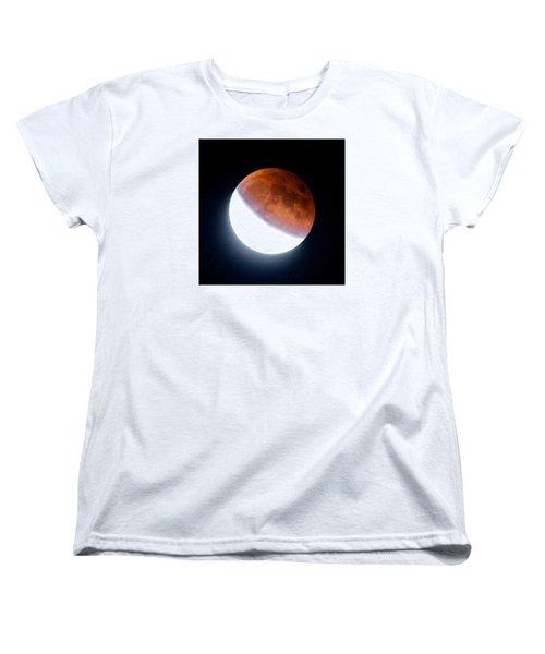 Women's T-Shirt (Standard Cut) featuring the photograph Partial Super Moon Lunar Eclipse by Todd Kreuter
