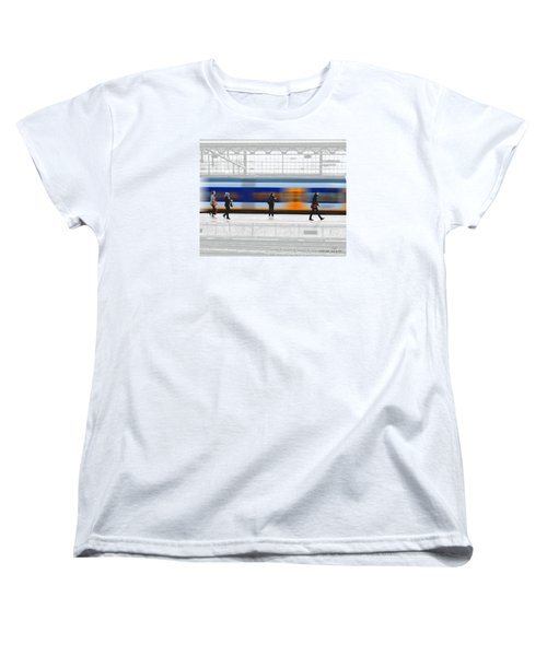 Women's T-Shirt (Standard Cut) featuring the photograph Passing Train by Pedro L Gili