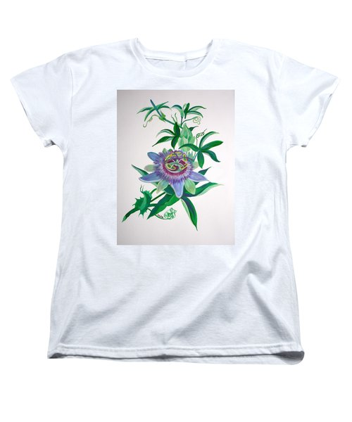 Passion Flower Women's T-Shirt (Standard Cut) by Tracey Harrington-Simpson