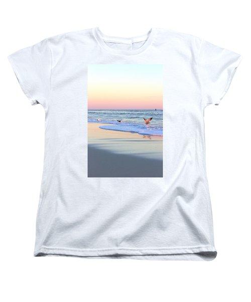 Pastels On Water Women's T-Shirt (Standard Cut)