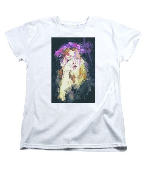 Women's T-Shirt (Standard Cut) featuring the digital art Path Abstract Portrait by Galen Valle