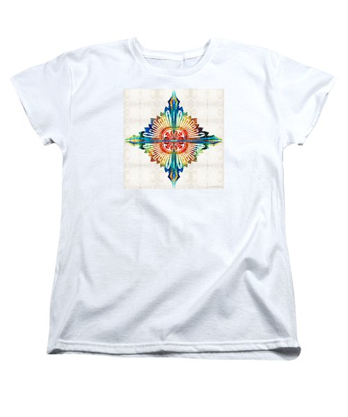 Pattern Art - Color Fusion Design 1 By Sharon Cummings Women's T-Shirt (Standard Cut)