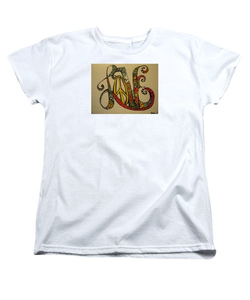 Peace And Love Women's T-Shirt (Standard Cut) by Claudia Cole Meek