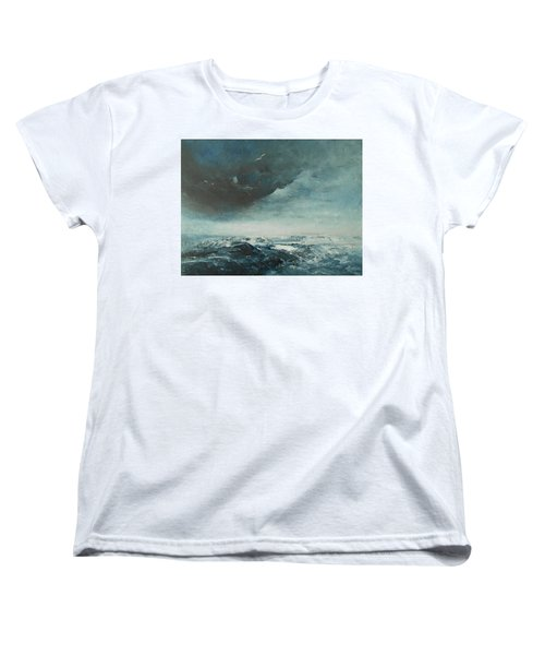 Peace In The Midst Of The Storm Women's T-Shirt (Standard Cut) by Jane See