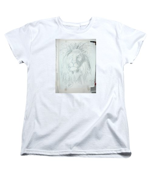 Women's T-Shirt (Standard Cut) featuring the drawing Peace In The Valley by Sharyn Winters