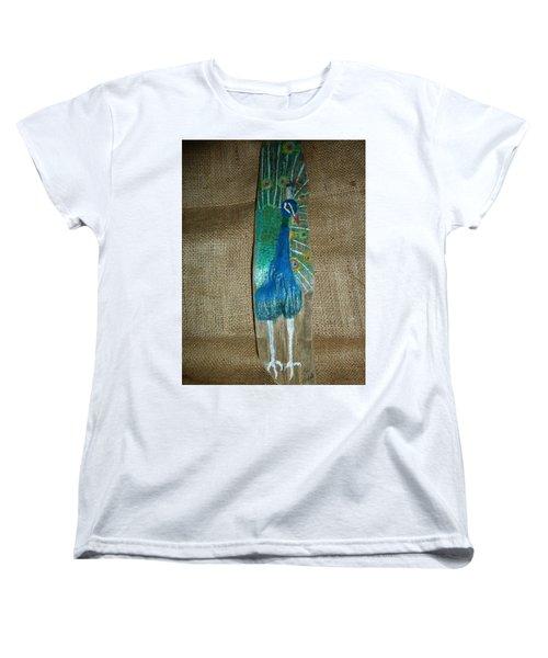 Peacock Women's T-Shirt (Standard Cut) by Ann Michelle Swadener