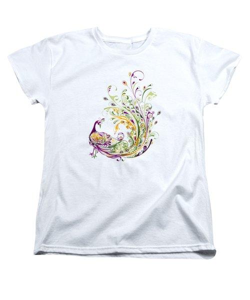 Peacock Women's T-Shirt (Standard Cut) by BONB Creative