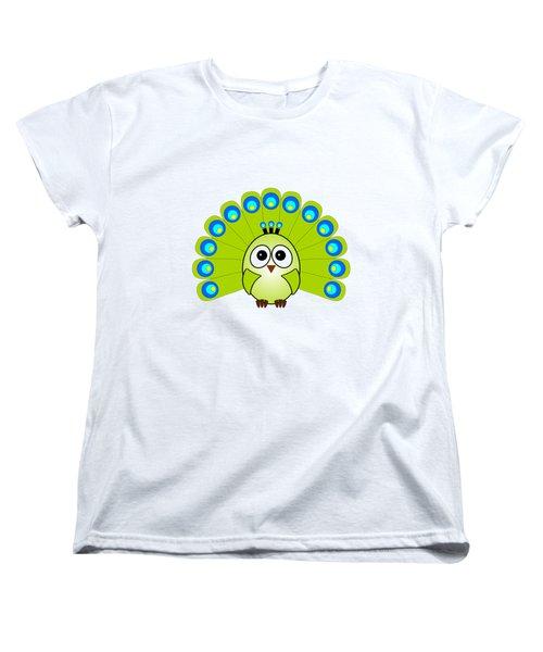 Peacock  - Birds - Art For Kids Women's T-Shirt (Standard Cut) by Anastasiya Malakhova