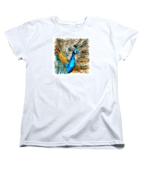 Peacock Women's T-Shirt (Standard Cut) by Charmaine Zoe
