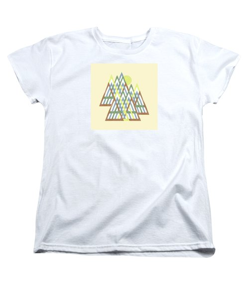 Women's T-Shirt (Standard Cut) featuring the digital art Peak Peek by Deborah Smith