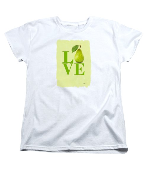 Pear Women's T-Shirt (Standard Cut) by Mark Rogan