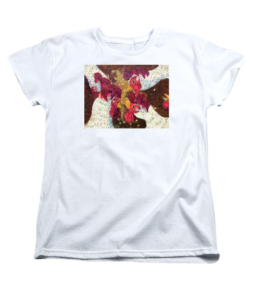 Pecking Order Women's T-Shirt (Standard Cut) by Jame Hayes