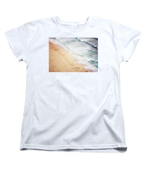 Women's T-Shirt (Standard Cut) featuring the photograph Pedn Vounder by Lyn Randle