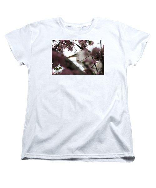 Peek A Boo Women's T-Shirt (Standard Cut) by Sandra Updyke