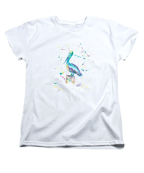 Pelican By Jan Marvin Women's T-Shirt (Standard Cut) by Jan Marvin