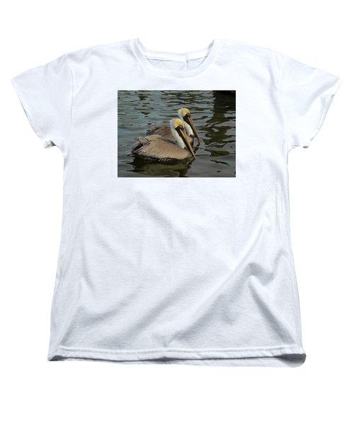 Women's T-Shirt (Standard Cut) featuring the photograph Pelican Duo by Jean Noren