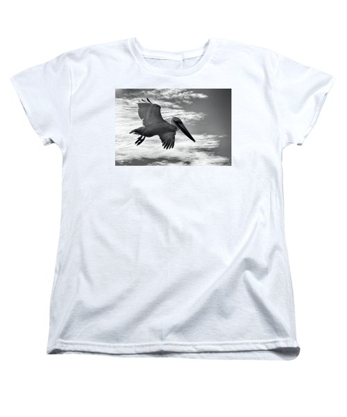 Pelican In Flight Women's T-Shirt (Standard Cut) by AJ Schibig