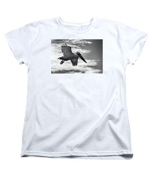 Pelican In Flight Women's T-Shirt (Standard Cut)
