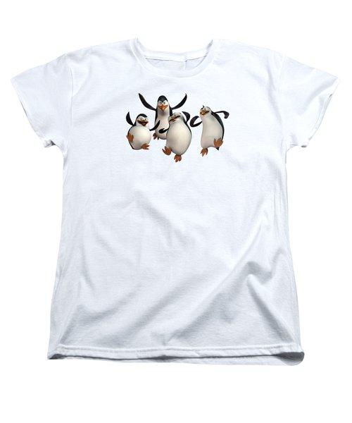 Penguins Of Madagascar 2 Women's T-Shirt (Standard Cut)